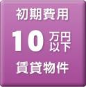 初期費用 10万円以下 賃貸物件